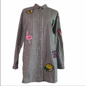 H&M Divided Patch Gingham Shirt Dress